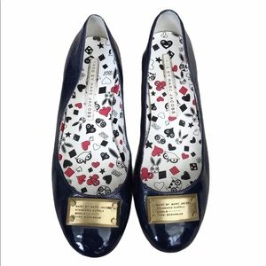 Marc By Marc Jacobs Navy Patent Leather Flats